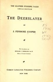 Cover of: The deerslayer by James Fenimore Cooper