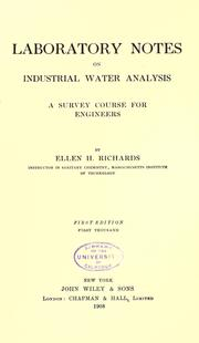 Cover of: Laboratory notes on industrial water analysis