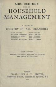 Cover of: Mrs. Beeton's household management | Mrs. Beeton