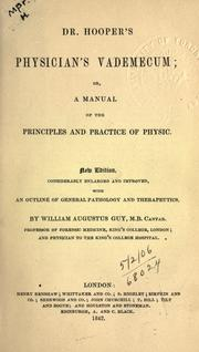 Cover of: The physician's vade-mecum
