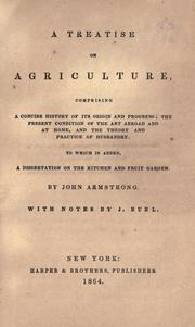 Cover of: A treatise on agriculture