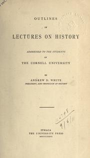 Cover of: Outline of lectures on history