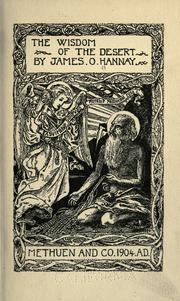 Cover of: The Wisdom of the desert by [edited and translated] by James O. Hannay.