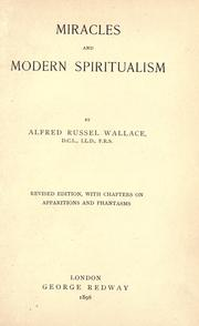 Cover of: Miracles and modern spiritualism by Alfred Russel Wallace