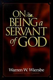 Cover of: On being a servant of God