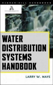 Cover of: Water Distribution System Handbook