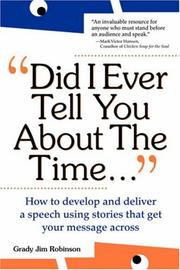 Cover of: Did I ever tell you about the time--