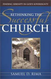 Cover of: Rethinking the Successful Church | Samuel D. Rima