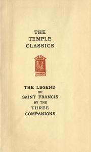 Cover of: The legend of Saint Francis