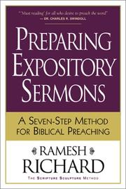 Cover of: Preparing expository sermons
