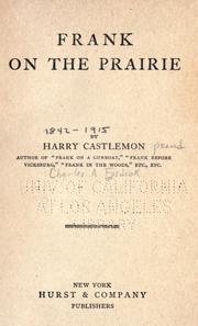 Cover of: Frank on the prairie