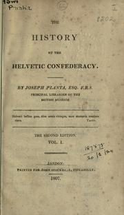 Cover of: The history of the Helvetic Confederacy