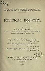 Cover of: Political economy