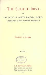 The Scotch-Irish by Charles A. Hanna