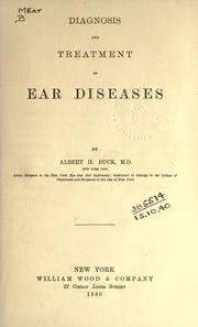 Cover of: Diagnosis and treatment of ear diseases