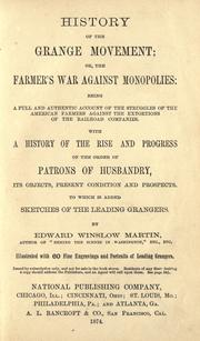 History of the Grange movement by James Dabney McCabe