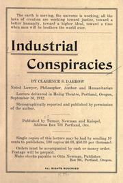 Cover of: Industrial conspiracies