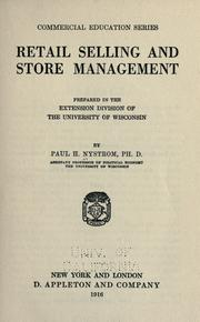 Cover of: Retail selling and store management