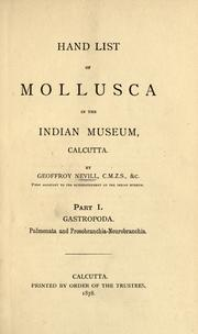 Hand list of Mollusca in the Indian Museum, Calcutta by Indian Museum.