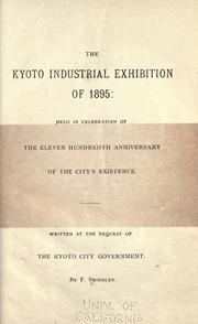 Cover of: The Kyoto industrial exhibition of 1895 | Brinkley, F.