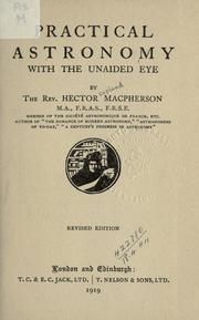 Cover of: Practical astronomy with the unaided eye