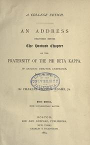 Cover of: A college fetich
