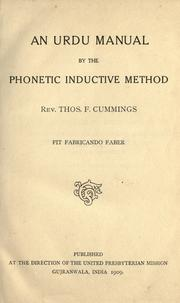 Cover of: An Urdu manual by the phonetic inductive method