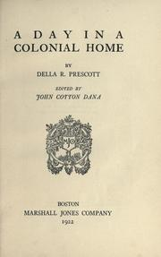 Cover of: A day in a colonial home
