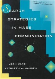 Cover of: Search strategies in mass communication