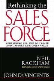 Cover of: Rethinking the sales force