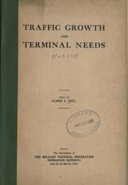 Cover of: Traffic growth and terminal needs