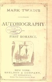 Cover of: Mark Twain's (burlesque) autobiography