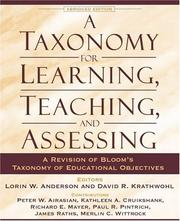 Cover of: A taxonomy for learning, teaching, and assessing