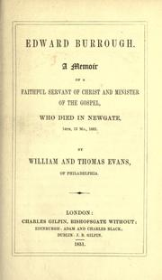Cover of: Edward Burrough