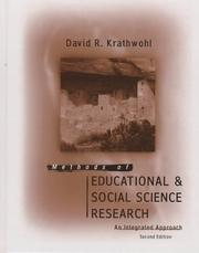 Methods of educational and social science research by David R. Krathwohl