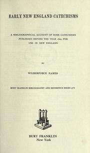 Early New England catechisms by Wilberforce Eames