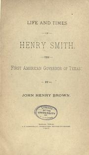 Cover of: Life and times of Henry Smith