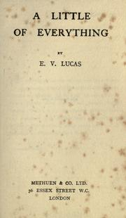 Cover of: A little of everything