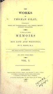 Cover of: Works, containing his poems and correspondence with several eminent literary characters: To which are added, Memoirs of his life and writings