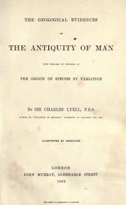 The geological evidences of the antiquity of man by Charles Lyell