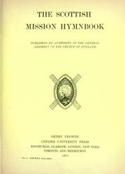 Cover of: The Scottish mission hymnbook