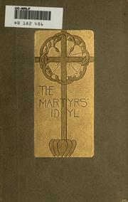 Cover of: The martyrs' idyl