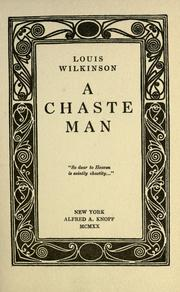 Cover of: A chaste man