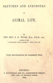 Cover of: Sketches and anecdotes of animal life