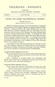 Cover of: Notes on some neotropical hawks