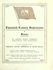 Cover of: Twentieth century impressions of Siam by Arnold Wright