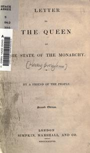 Cover of: Letter to the queen on the state of the monarchy