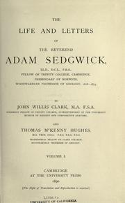 Cover of: The life and letters of the Reverend Adam Sedgwick