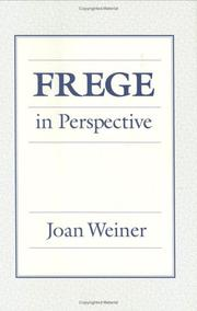 Cover of: Frege in perspective