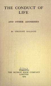 Cover of: The conduct of life, and other addresses